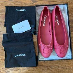NWT Chanel Ballet Flats in Pink